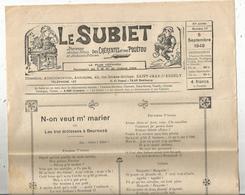 Régionalime,Poitou-Charente, LE SUBIET,jhorneau Des Bons Bitons Etdes Bounes Bitounes, N° 17, 5-9-1948,,frais Fr1.85 E - Poitou-Charentes