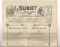 Régionalime,Poitou-Charente, LE SUBIET,jhorneau Des Bons Bitons Etdes Bounes Bitounes, N° 16, 20-8-1948,,frais Fr1.85 E - Poitou-Charentes
