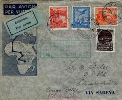 15-11-35 - Env.PAR AVION De Belgrade Pour Le Congo Belge -1ère Liaison Aérienne Belge SABENA - Luftpost