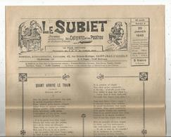 Régionalime,Poitou-Charente, LE SUBIET,jhorneau Des Bons Bitons Etdes Bounes Bitounes, N° 2, 20-1-1949,,frais Fr1.85 E - Poitou-Charentes