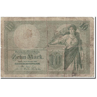 Billet, Allemagne, 10 Mark, 1906, KM:9b, B+ - [ 2] 1871-1918 : Duitse Rijk