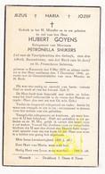 DP Hubert Goyens ° Kessenich Kinrooi 1878 † 1946 X Petronella Snijkers - Images Religieuses