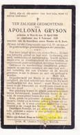 DP Dienstmeid Apollonia Gryson ° Wervik 1856 † 1929 - Images Religieuses