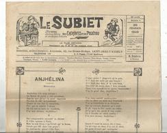 Régionalime,Poitou-Charente, LE SUBIET,jhorneau Des Bons Bitons Etdes Bounes Bitounes, N° 4, 20-2-1949,,frais Fr1.85 E - Poitou-Charentes