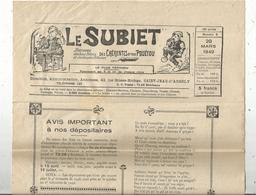 Régionalime,Poitou-Charente, LE SUBIET,jhorneau Des Bons Bitons Etdes Bounes Bitounes, N° 6, 20-3-1949,,frais Fr1.85 E - Poitou-Charentes