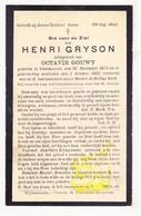 DP Henri Gryson ° Voormezele Ieper 1875 † 1925 X Octavie Gouwy - Images Religieuses
