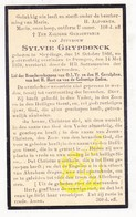 DP Sylvie Grypdonck ° Sleidinge 1866 † Drongen 1930 - Images Religieuses