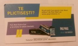ROMANIA-CIGARETTES  CARD,NOT GOOD SHAPE,0.90 X 0.50 CM - Unclassified