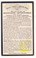 DP Madeleine Grymonprez / Lamerand ° Zandvoorde Zonnebeke 1909 † Poperinge 1931 - Images Religieuses