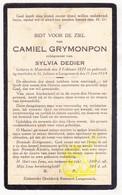 DP Camiel Grymonpon ° Moorslede 1871 † St.-Juliaan Langemark 1934 X Sylvia Dedier - Images Religieuses