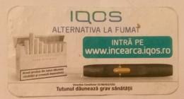 ROMANIA-CIGARETTES  CARD,NOT GOOD SHAPE,0.80 X 0.42 CM - Unclassified
