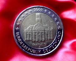 "Germany 2 Euro -  D -  Coin 2009  Saarland "" Ludwigskirche "" Coin CIRCULATED - Deutschland"