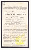 DP EZ Catharina M. Greffin - Zr. M. Jozef ° Mechelen 1856 † Klooster Huldenberg 1931 - Images Religieuses