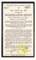 DP Ere Vrederechter François Cesar Gravet ° Ieper 1841 † Lede 1925 - Devotion Images