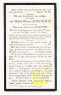DP Jan Aloïs M. Goyvaerts ° Lier 1852 † 1930 X Josepha Heremans - Images Religieuses