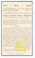 DP Studente Sophia J. Goyens 13j. ° Kessenich Kinrooi 1924 † 1937 - Images Religieuses