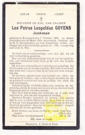 DP Leo Petrus Goyens ° Kessenich Kinrooi 1891 † 1924 - Images Religieuses