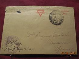 Lettre Avec Marque De Censure D'un Soldat Des USA Pour Tonnerre De 1918 - Storia Postale