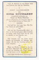 DP Baby - Rosa Goussaert / Denorme ° Beveren Ad Leie Waregem 1938 † 1939 - Images Religieuses
