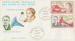Enveloppe  FDC  1er  Jour  TERRITOIRE  FRANCAIS   Des   AFARS  Et  ISSAS     Hommes  Célébres  1977 - Afars Et Issas (1967-1977)