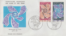 Enveloppe  FDC  1er  Jour  TERRITOIRE  FRANCAIS   Des   AFARS  Et  ISSAS  Centenaire  De  L' U.P.U  1974 - Afars Et Issas (1967-1977)