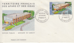 Enveloppe  FDC  1er  Jour  TERRITOIRE  FRANCAIS   Des   AFARS  Et  ISSAS    Nouvelle  Aérogare  1977 - Afars Et Issas (1967-1977)