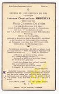 DP Joannes Const. Goossens ° Merchtem 1851 † Peizegem 1934 X Maria C. De Velder / G. Gezelle - Images Religieuses