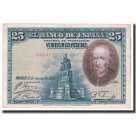 Billet, Espagne, 25 Pesetas, 1928, 1928-08-15, KM:74b, TTB - [ 1] …-1931 : Premiers Billets (Banco De España)