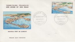 Enveloppe  FDC  1er  Jour  TERRITOIRE  FRANCAIS   Des   AFARS  Et  ISSAS   Nouveau  Port   1972 - Afars Et Issas (1967-1977)