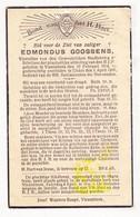 DP Edmondus Goossens 22j. ° Vlezenbeek 1914 † Ukkel 1936 - Images Religieuses