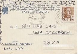 Spanien: 1955: Brief Barcelona - Ibiza - Spanien