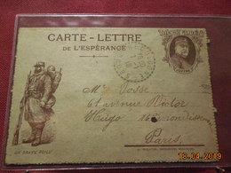Carte Lettre En FM De 1918 - Storia Postale