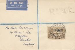 New Guinea: 1931: Registered Postcard Air Mail Rabaul To England - Papúa Nueva Guinea
