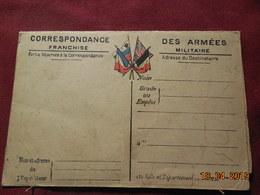 Carte En FM Avec Carte Du Front Dépliante - Marcophilie (Lettres)