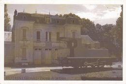 Cp , 33 , GUÎTRES , Façade De La Gare - France