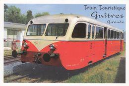 Cp , 33 , GUÎTRES , Train Touristique , Automotrice De Dion-Bouton 1938 - France