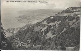 6-CAUX,GILON,MONTREUX,VEVEY-MONT PELERIN-VUE GENERALE - Svizzera