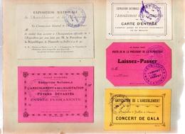 7 Documents.VILLE D'AMIENS.Exposition National De L'Ameublement & De L'Habitation-Foyers Dévastés.1919 - Programmes