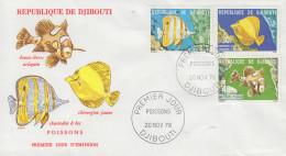 Enveloppe  FDC  1er  Jour   DJIBOUTI    Poissons   1978 - Djibouti (1977-...)