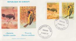 Enveloppe  FDC  1er  Jour   DJIBOUTI    Oiseaux   1977 - Djibouti (1977-...)