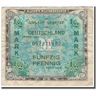 Billet, Allemagne, 1/2 Mark, 1944, KM:191a, TB - [ 5] Ocupación De Los Aliados