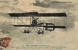 HISTOIRE DE L'AVIATION  Roger SOMMER  Sur Biplan Farman RV - ....-1914: Precursors