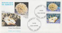 Enveloppe  FDC  1er  Jour   DJIBOUTI    Faune   Sous- Marine   1989 - Djibouti (1977-...)
