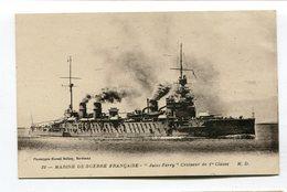 CPA  Bateau : Le JULES FERRY  Croiseur Pour Aoust à Bordeaux     A   VOIR !!!! - Warships
