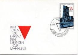"""DDR Schmuck-FDC Mi 2735 """"Denkmal Auschwitz-Birkenau"""", ESSt BERLIN, 7.9.1982 - FDC: Sobres"""