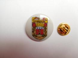 Superbe Pin's En Porcelaine , Sapeurs Pompiers De Brionne , Blason , Eure - Bomberos