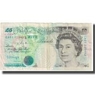 Billet, Grande-Bretagne, 5 Pounds, 1990, KM:382a, TTB - 1952-… : Elizabeth II
