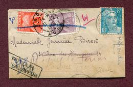 RIGNY-LE-FERRON - TROYES :  Lettre Taxée De1949 - Lettres Taxées