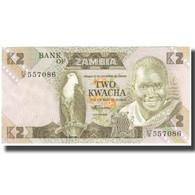 Billet, Zambie, 2 Kwacha, KM:24c, NEUF - Zambie