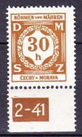 Boheme Et Moravie 1941 Mi D 1 (Yv TS 1), (MNH)** - Bohemia & Moravia